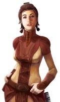 Bastila Digital Portrait by HarrySorne