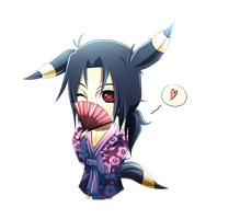 Chibi Umbreon-Itachi by Chillovery