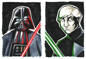 FCBD 2014 Star Wars Sketch Cards by TravisTheGeek