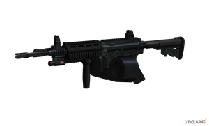 M4 Carbine With Double Drum Mag by sadow1213