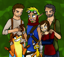 Naughty Dog Family by Liliththeottsel