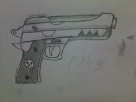 one of death the kids guns patty by burnt-sonic