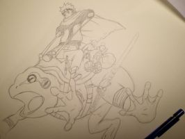 Naruto Toad Sketch by blackList90