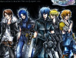 F'orever'F BOYS  final fantasy by KiuBe