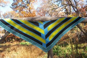 Earth And Sky Shawl by Jennfrog