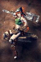 Steampunk Mechanic Pin-up by croaky
