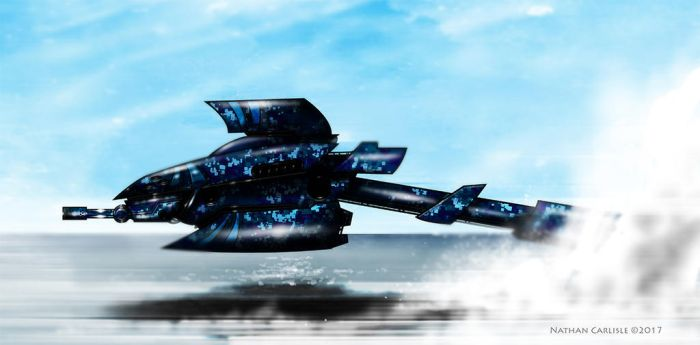 Blue Shark Attack Drone by ShamanX