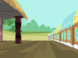 Ponyville Train Station by SelenaEde