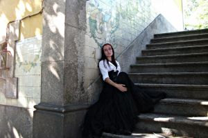 girl on stairs STOCK by SusanaDS-Stocks