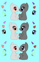 Chibi Pony Love Base by acornheart465
