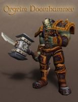 Orgrim Doomhammer by handclaw