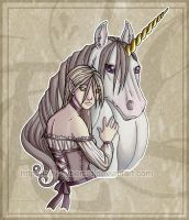 Maiden with Unicorn by lady-cybercat