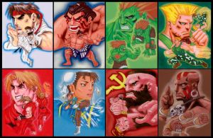 Street Fighter 2 select screen by Joker-laugh