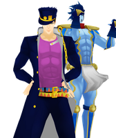 |DL SERIES| Jotaro and Star Platinum (15/?) by typhlosion4ever