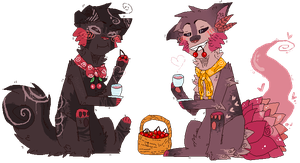 cherries and tea ,, by glitteral