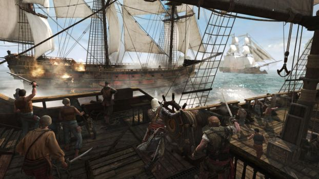 Assassin's Creed 4: Naval Battle by applejack324