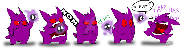 Ghastly's a Gas Pokemon by PotooBrigham