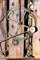 Old dutch clockwork in wooden frame by pagan-live-style