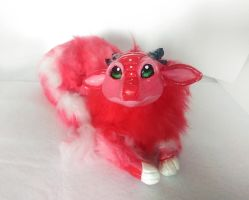 Handmade poseable Strawberry dragon SOLD by KaypeaCreations
