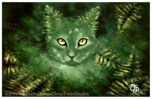 Fern Cat-El gato helecho 2012 by Gloria-T-Dauden