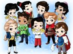Chibi-Disney Princes by rebenke