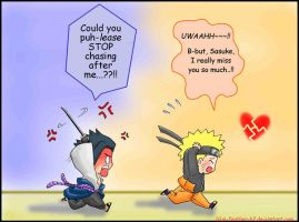 SasuNaru: Stubborness by Blue-Feather-BF