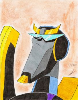 Prowl transformers animated close up by ailgara