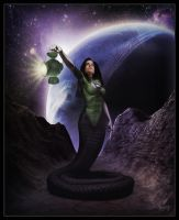 Green Lantern - Naga by ROCINATE