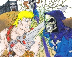 He-Man vs Skeletor by Crash2014