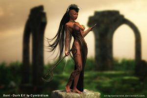Xeni Dark Elf by Cymbidium by Tasharene