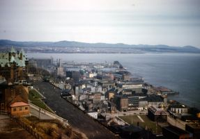 View from Citadel, Quebec 1946 by Skoshi8