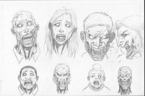 Zombie sketches by c-crain