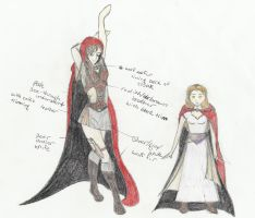 Red character T.W.E. concept by sapphire-blackrose