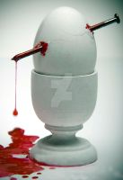 bleeding egg by alex--v