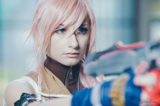 Lightning cosplay - My blade'll fix this. by cyberlight