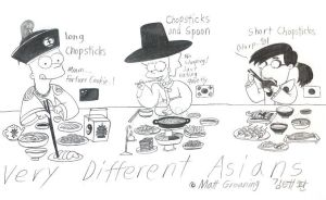 Very Diffrent Asians by komi114