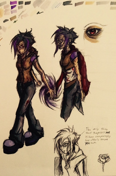 Character Concept Sketch: Luna by CykoHunter