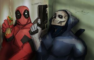 TASK MASTER AND DEADPOOL by suspension99
