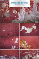 Exfoliated red wall by raduluchian