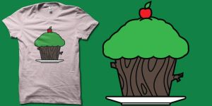 all-natural cupcake t-shirts by biotwist