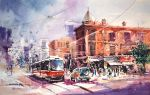 Toronto - Watercolor Painting by Abstractmusiq