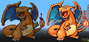 Charizard - Minecraft Art by HbubelyArtForms