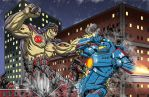 Kaiju Commissions - Exterminus vs Gipsy Danger by Bracey100