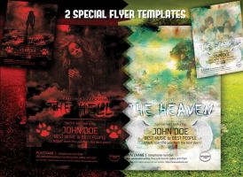 heaven- hell poster template by yuval10203