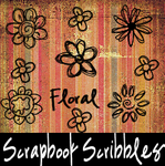 Scrapbook Scribbles Floral by mandy71480