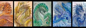 ACEO Dragon Rainbow 02 by rachaelm5