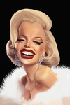 Caricature of Marilyn Monroe by Wladicm