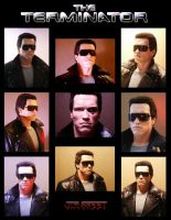 The Terminator Bust--collage by JIM-SWEET