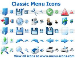 Classic Menu Icons by Ikont