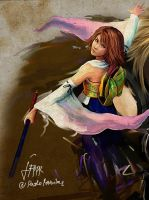 enter FFX Yuna poster by pbozproduction